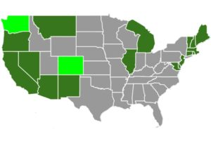Medical and Recreational Marijuana State Map