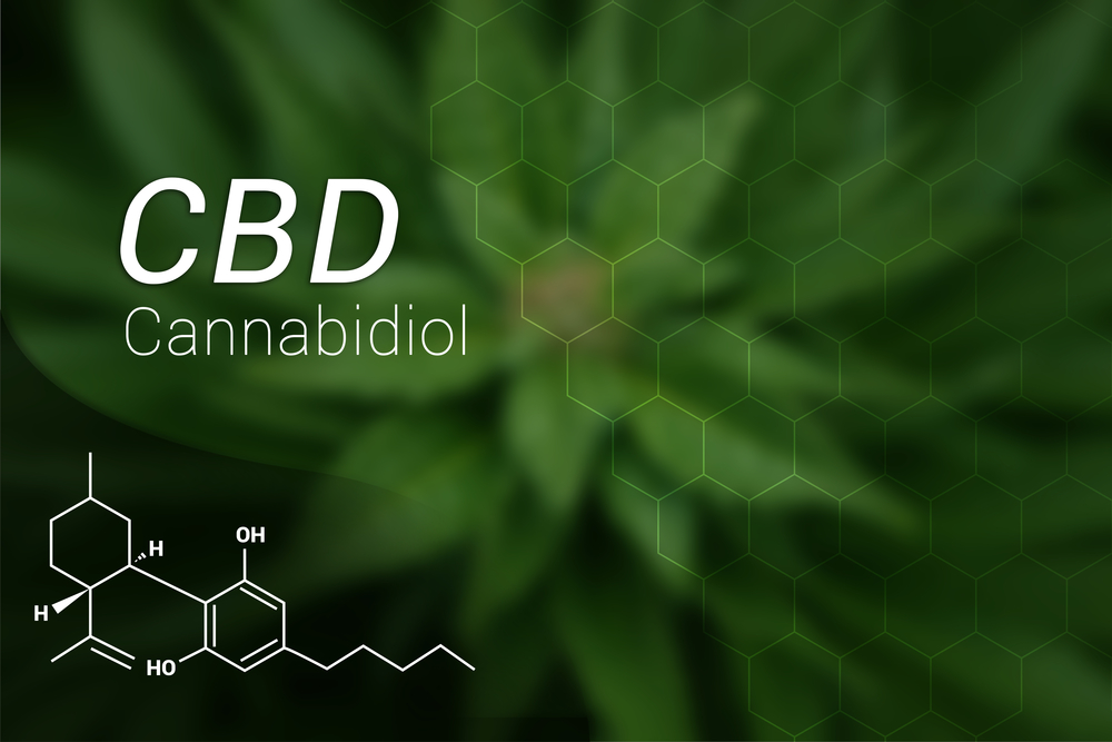 scientific display of CBD
