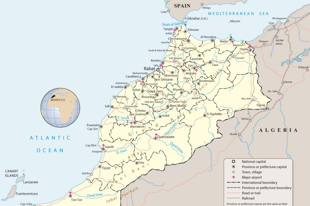 Moroccan map