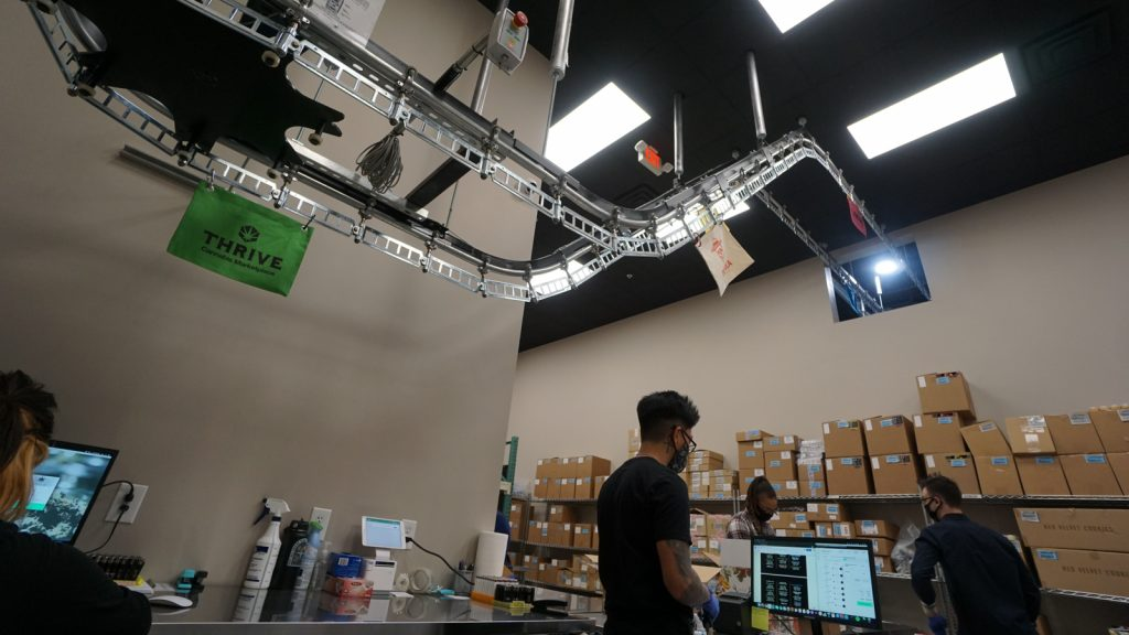 Las Vegas cannabis conveyor belt THRIVE Cannabis Marketplace